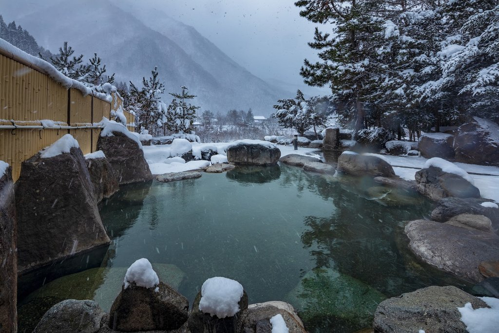 Onsen hot springs in Shirahone, Nagano Prefecture.