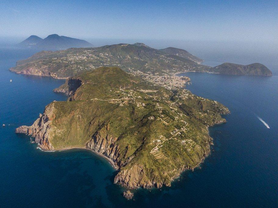 Aerial view of Lipari