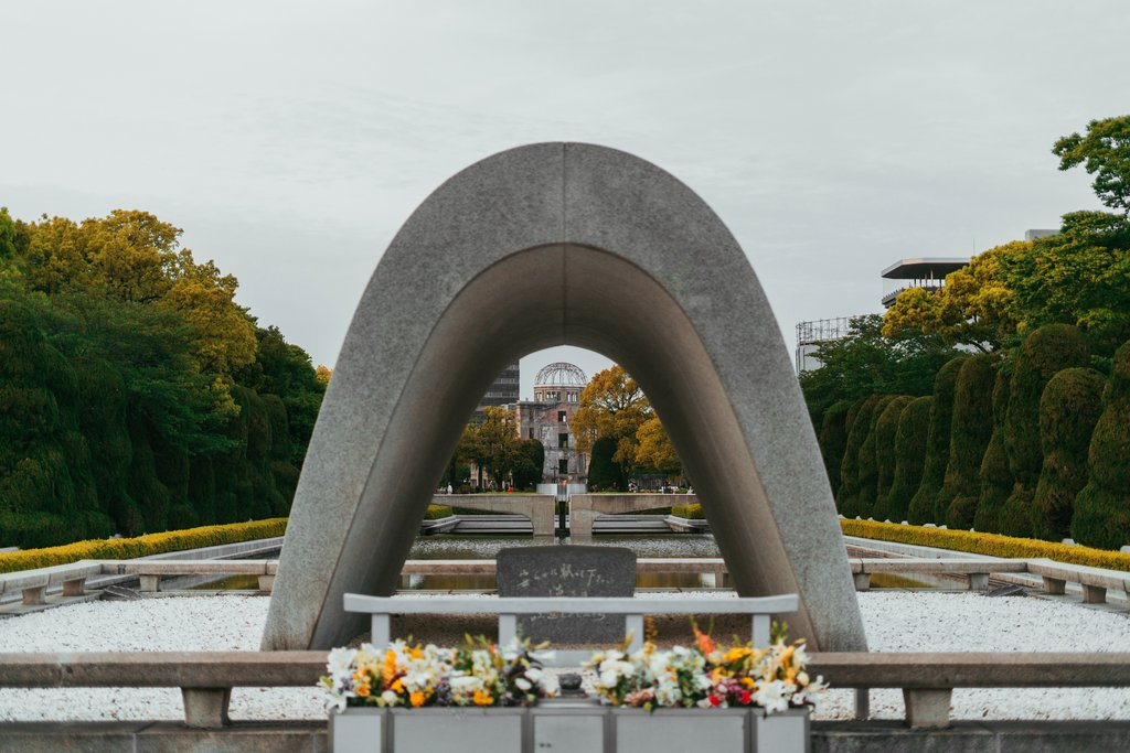 A monument at Hiroshima Peace Park