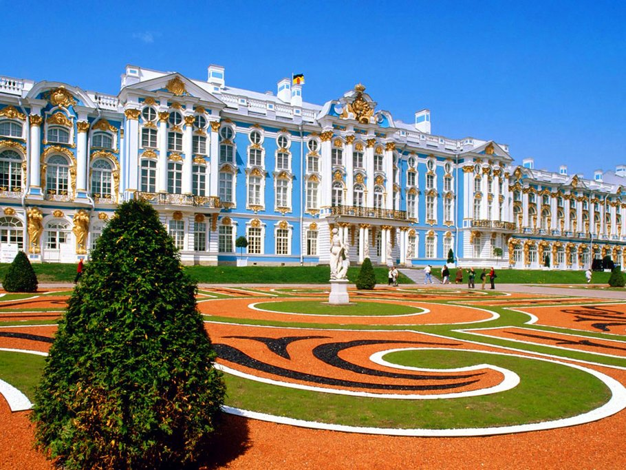 The grounds of Catherine Palace