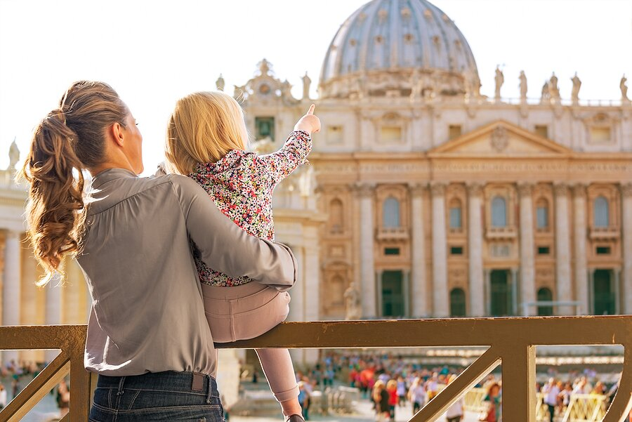 Explore the Vatican City with your little one