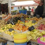 Fresh produce stall in Nice