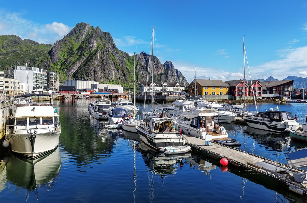 Svolvær offers stunning scenery and calm waters for sea kayaking