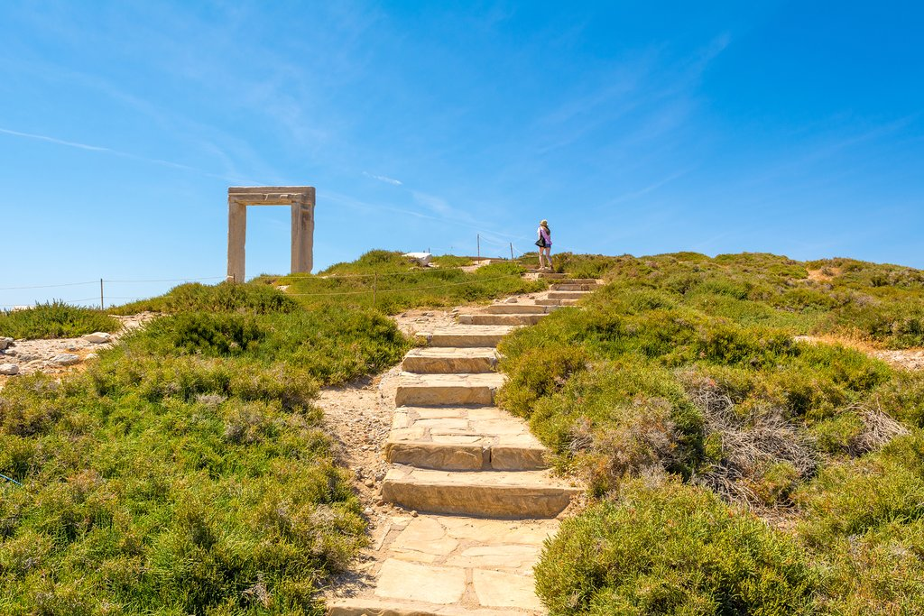 Hiking the Portara in Naxos