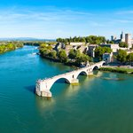 Aerial view of Avignon and Pont Saint-Bénézet