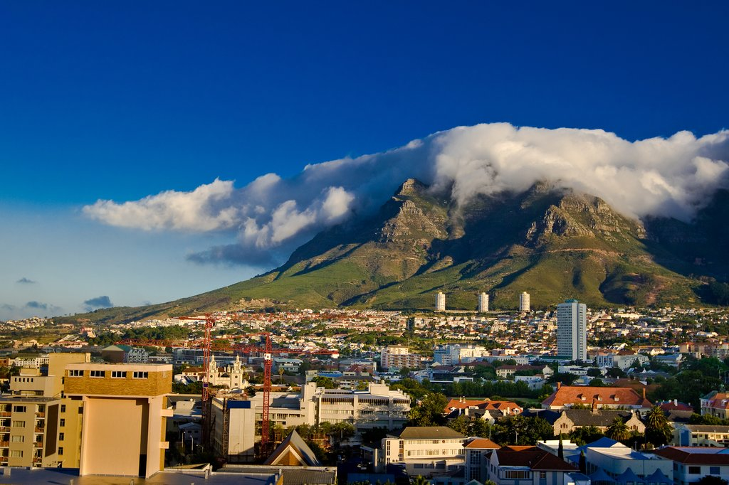 Cape Town with Table Mountain in the background