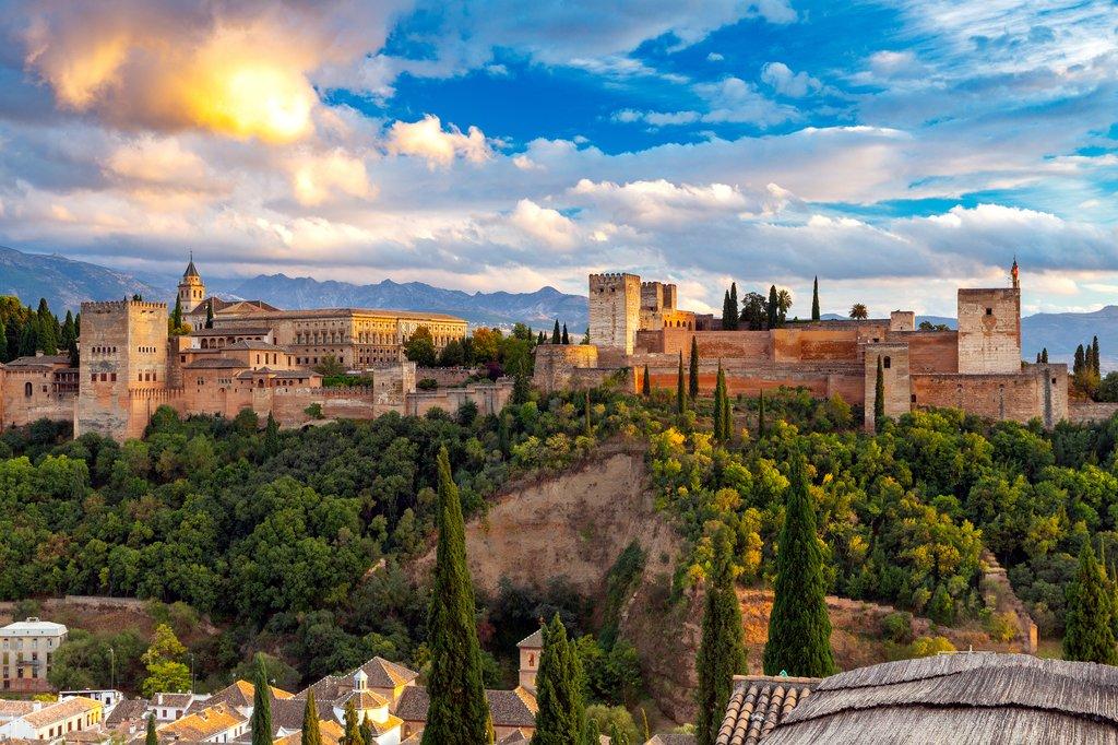 Famous Alhambra in Granada