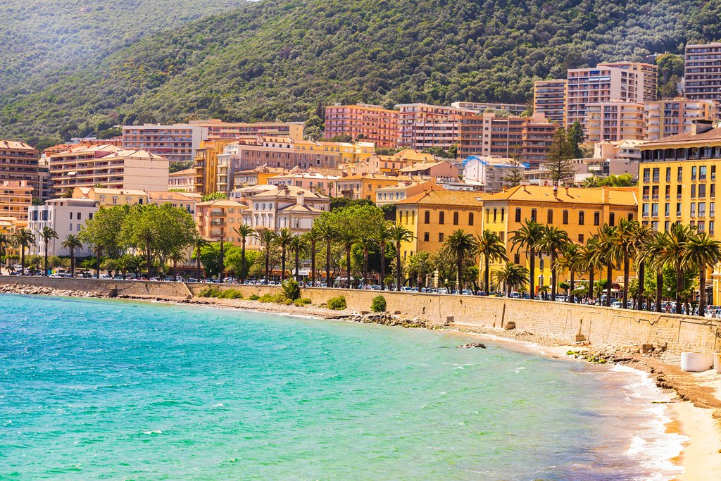 Public Beach in Ajaccio