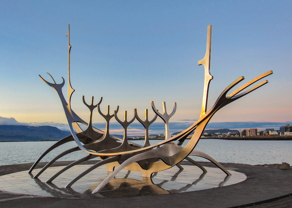 Sun Voyager Statue in Reykjavik