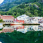 A village along the Hardangerfjord