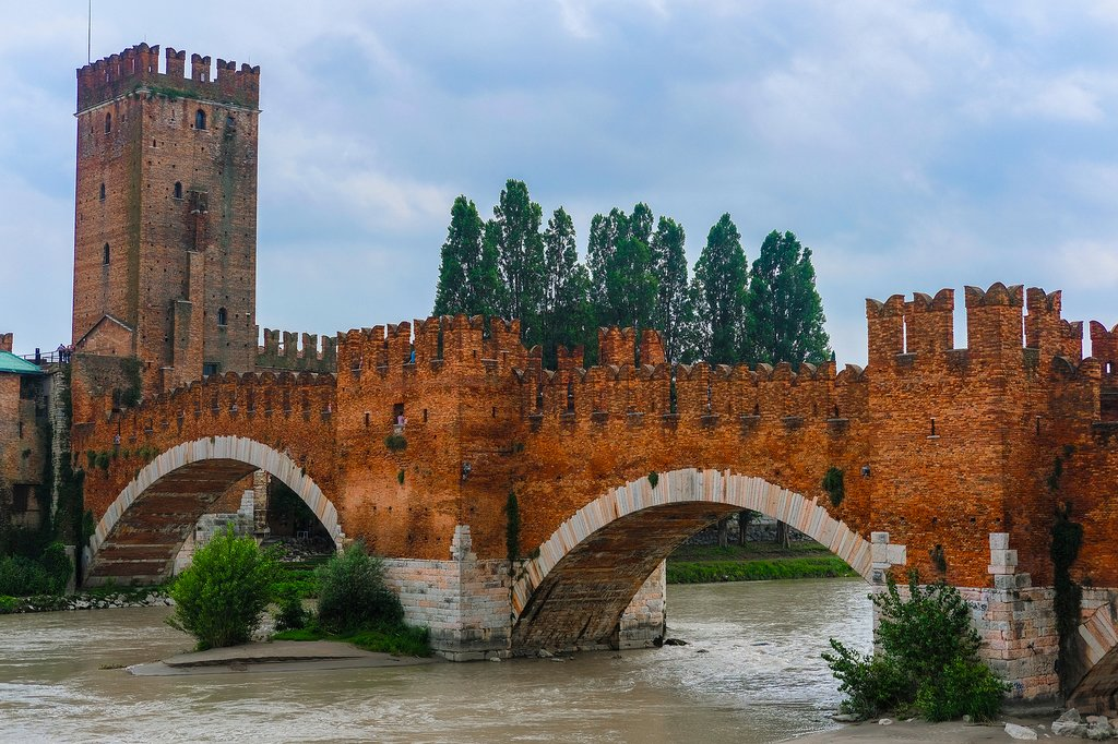 View of Verona and Adige River