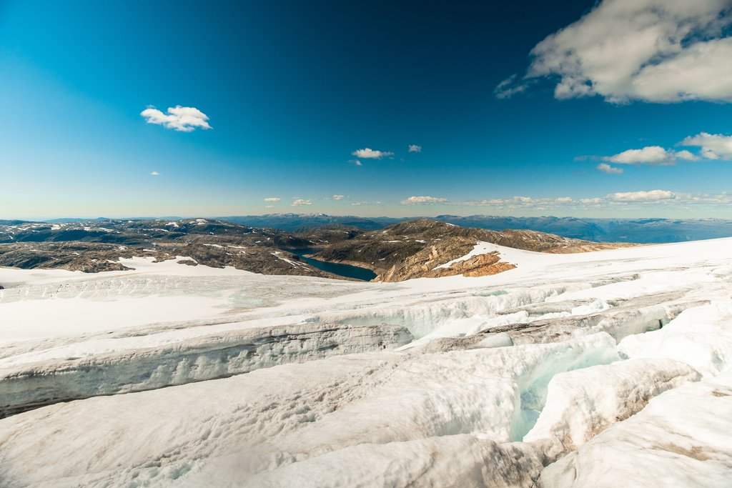 Otherworldly views from the glacier