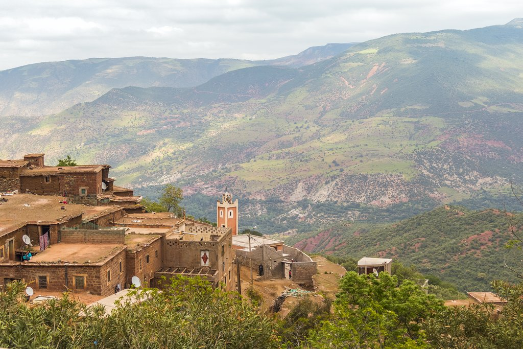 Taddert village in High Atlas mountains, Morocco