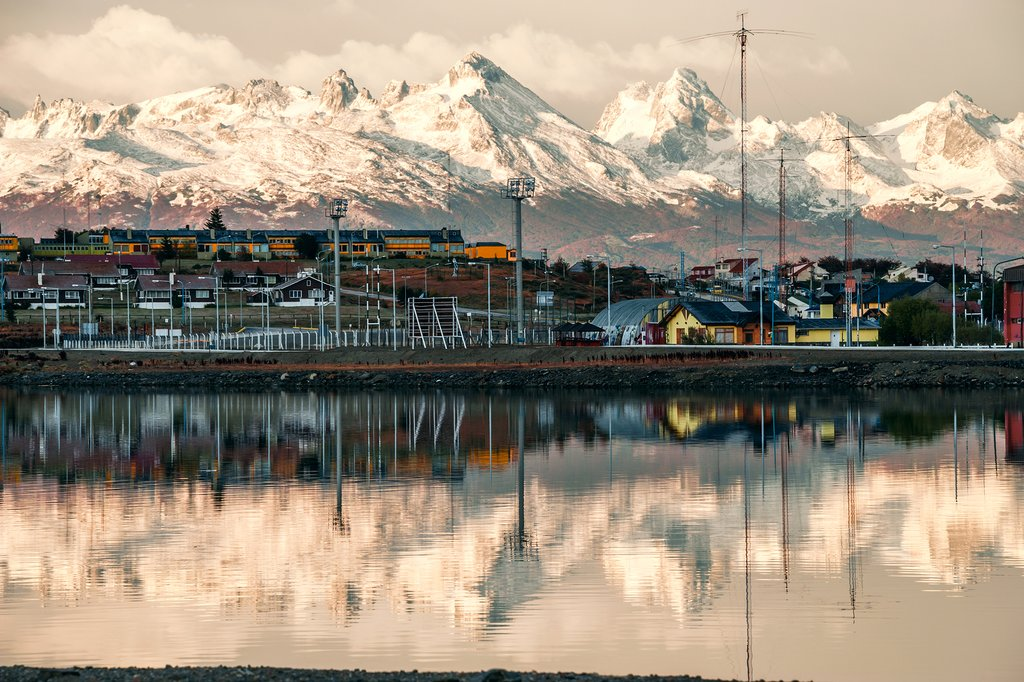 Early morning view of Ushuaia