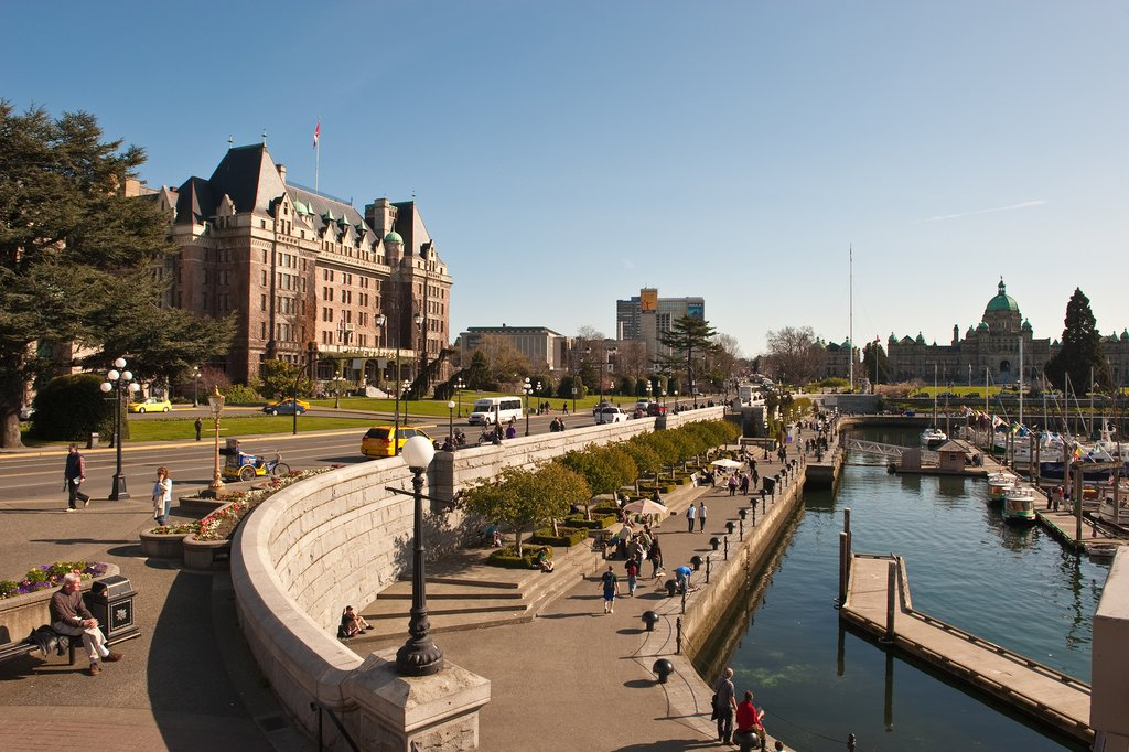 Victoria's Empress Hotel and Inner Harbor