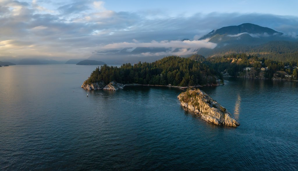Ferries pass Horseshoe Bay's Whytecliff Park en route to Nanaimo