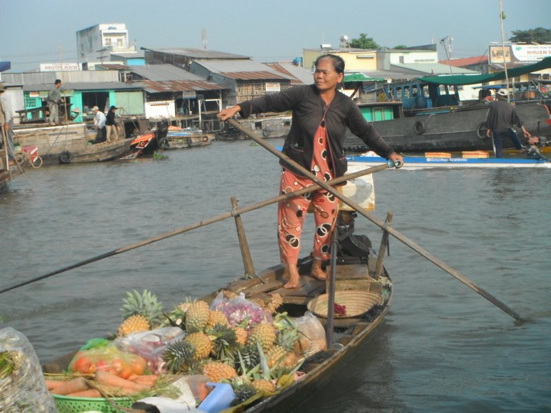 Cai Be is a local floating market