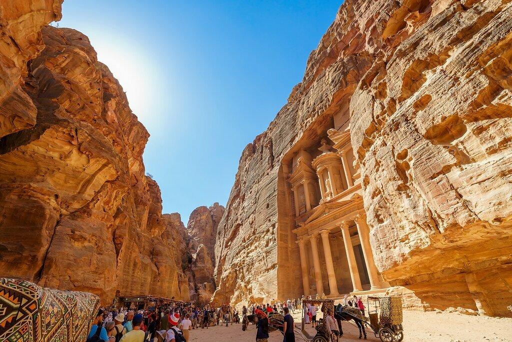 Inside the ancient city of Petra, Jordan