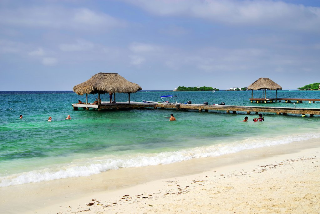 The Rosario Islands off the coast of mainland Colombia