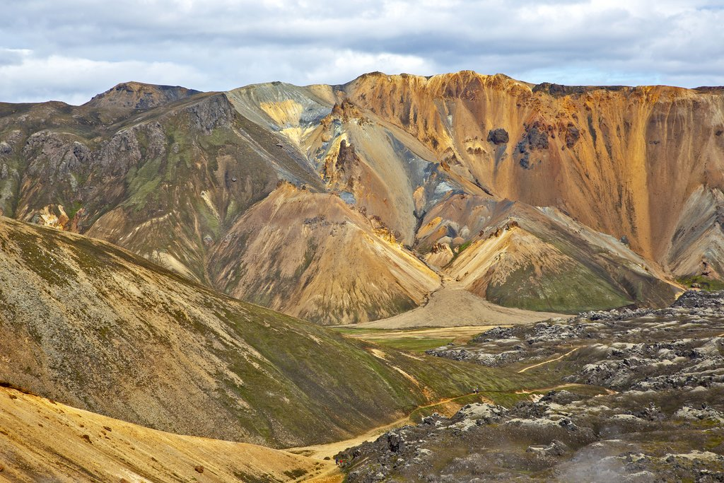 The landscapes of Landmannalaugar