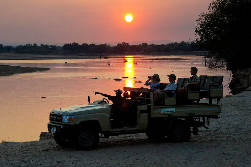 Guided safari in South Luangwa National Park