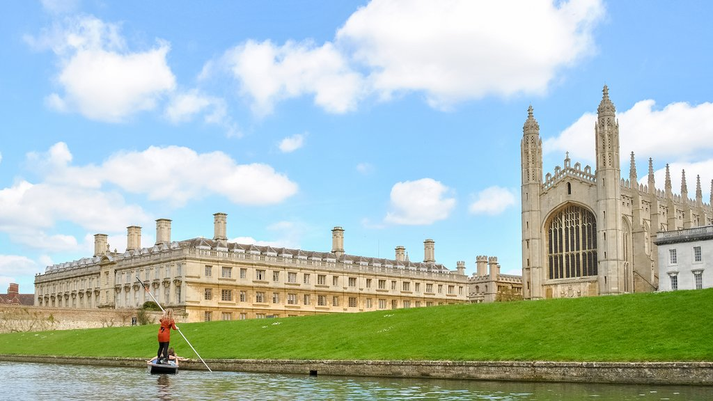England - Cambridge - King's College from the River Cam