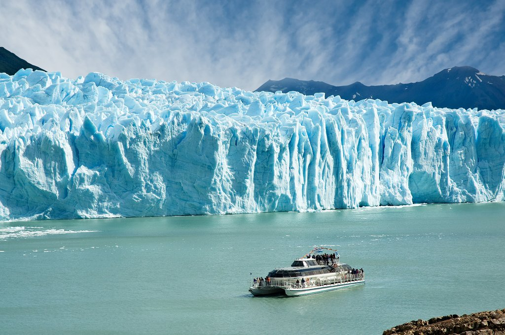 Dramatic views of Perito Moreno by boat.