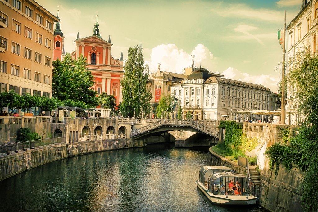 A postcard-perfect view of Ljubljana