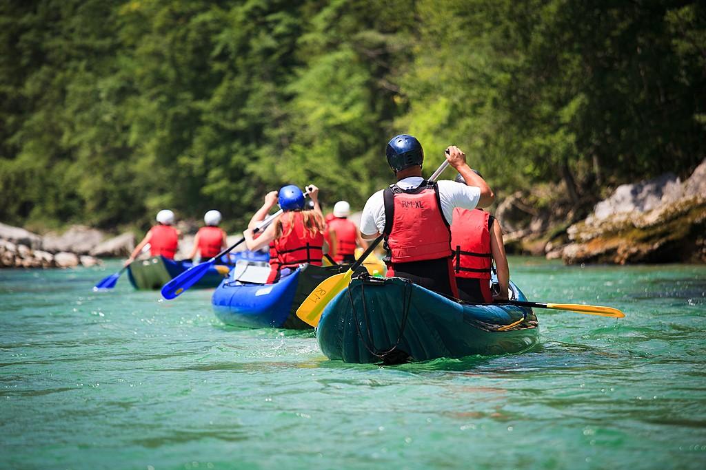 River raftingin the Soča River