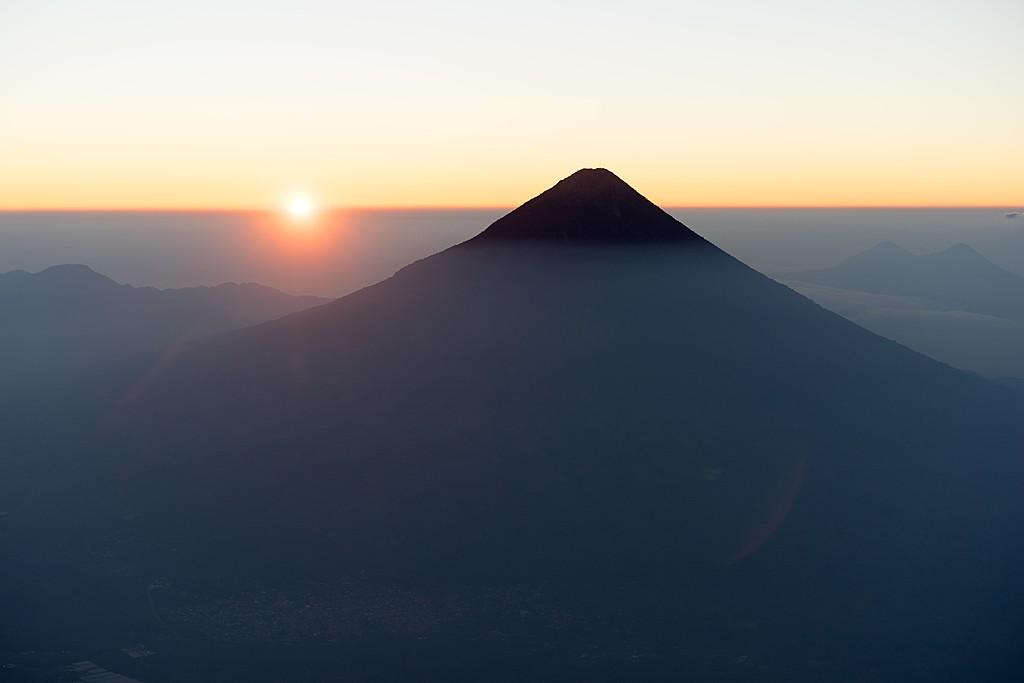 Sunrise view over  Volcán de Agua.