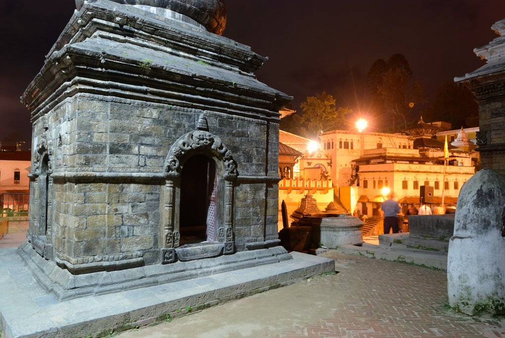 Pashupatinath at night