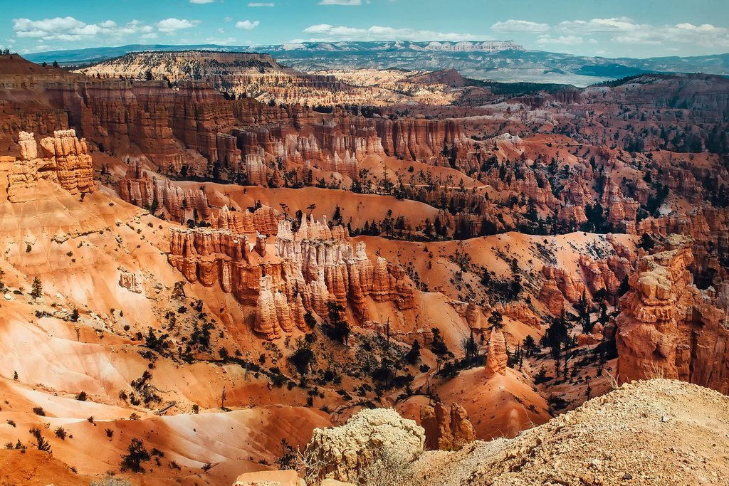 Aerial view over Bryce Canyon