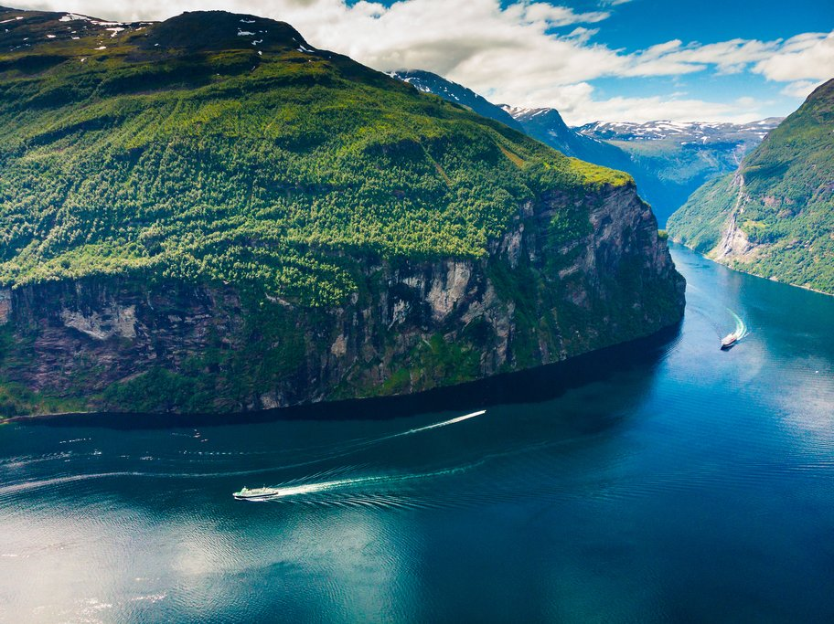 Drive along the Geirangerfjord to get to Valldal