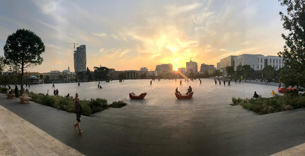 Skanderbeg Square at Sundown