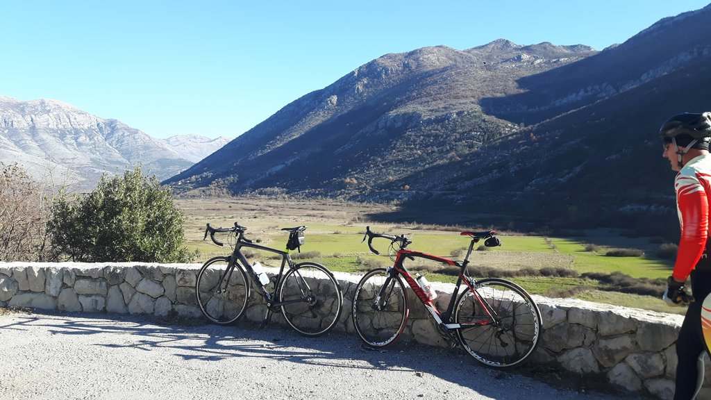 Ciro bike route on the way to Mostar