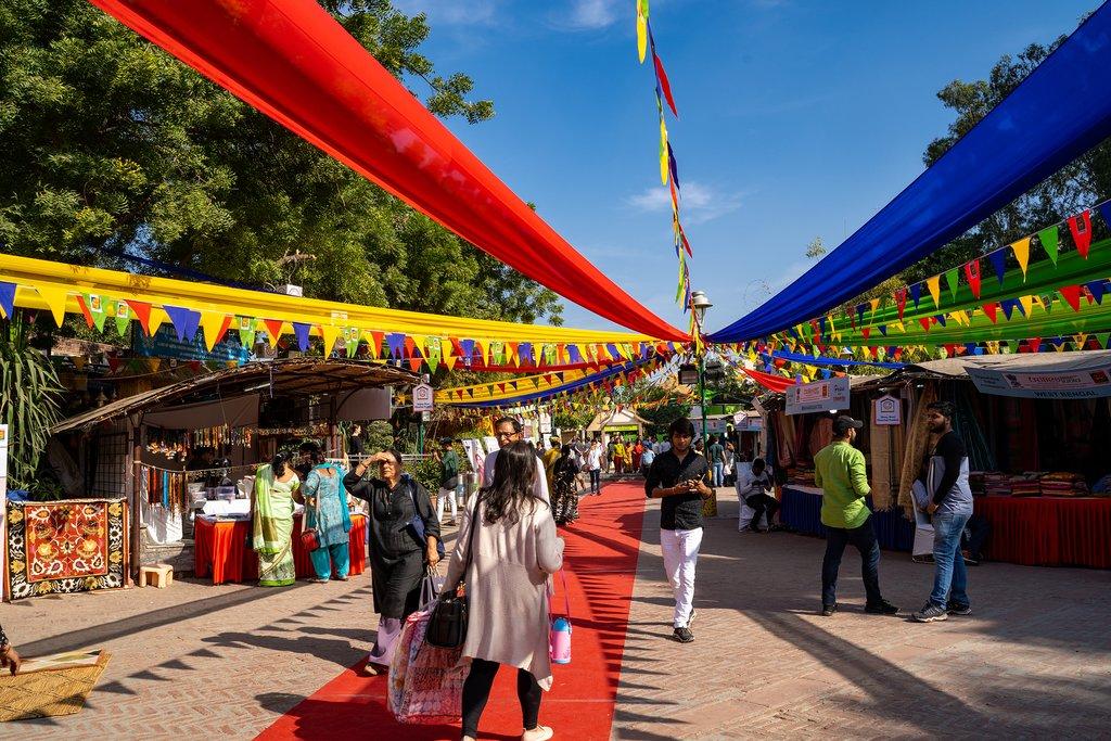 Dilli Haat, an outdoor craft market