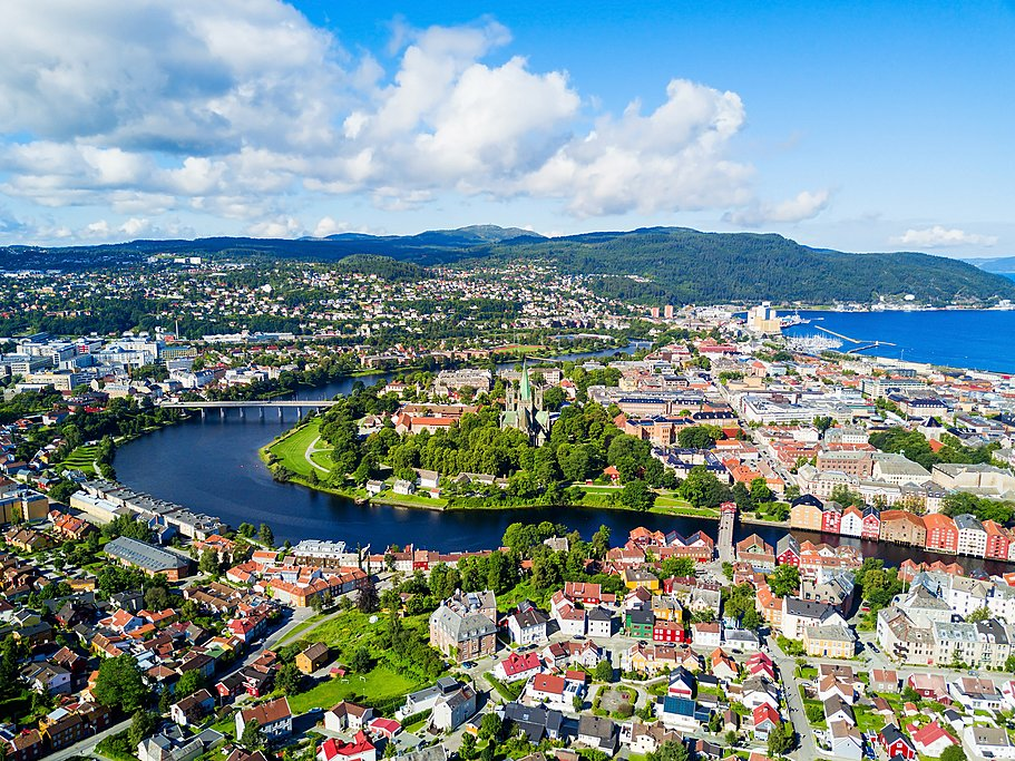 Aerial view of Norway's 3rd largest city