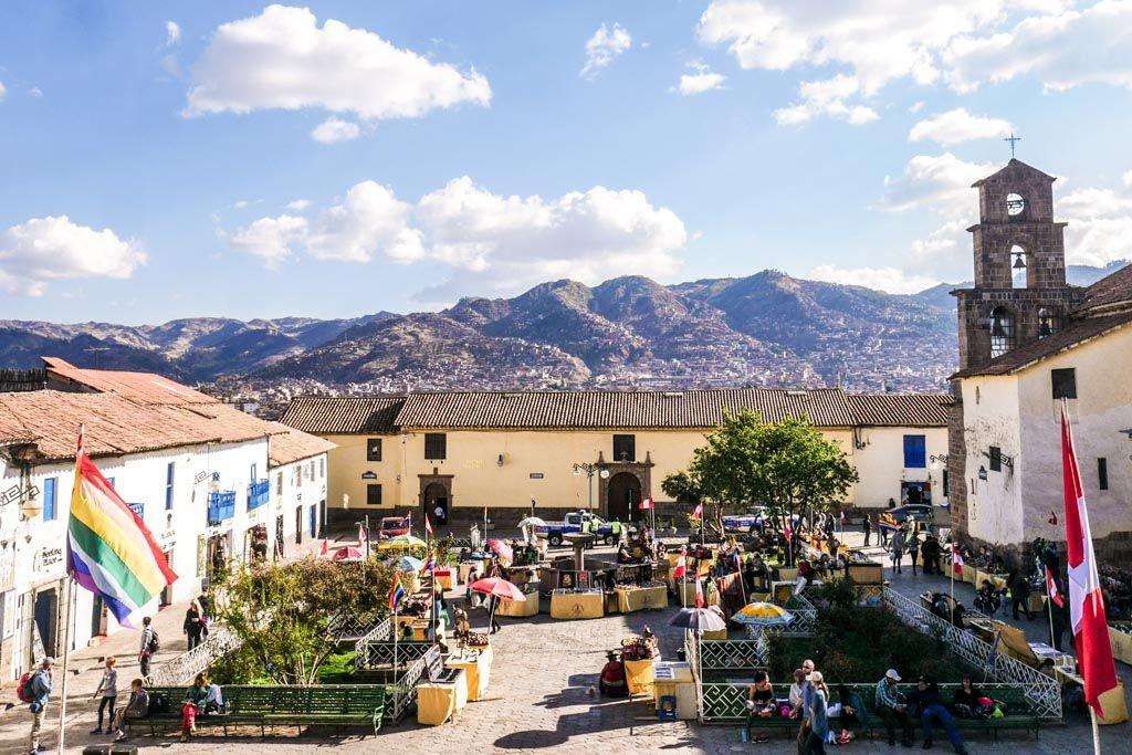 The beautiful neighborhood of San Blas