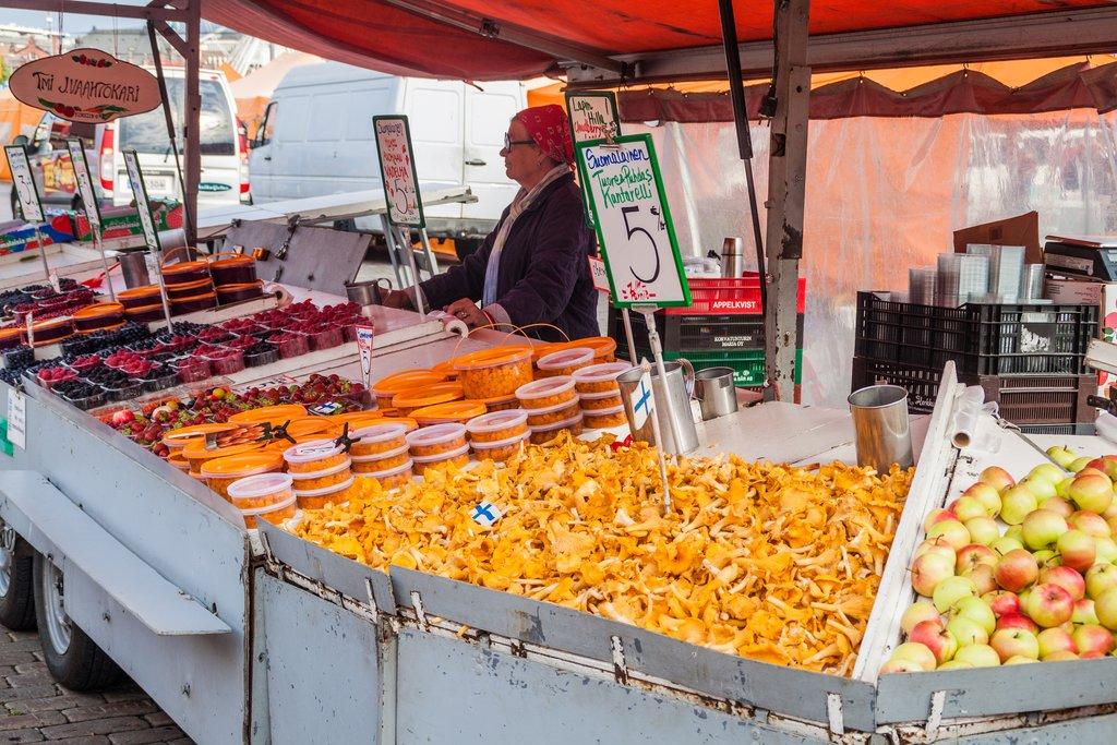 Vendor in Kauppatori (Market Square), Helsinki