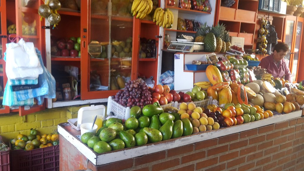 Typical fruit stand