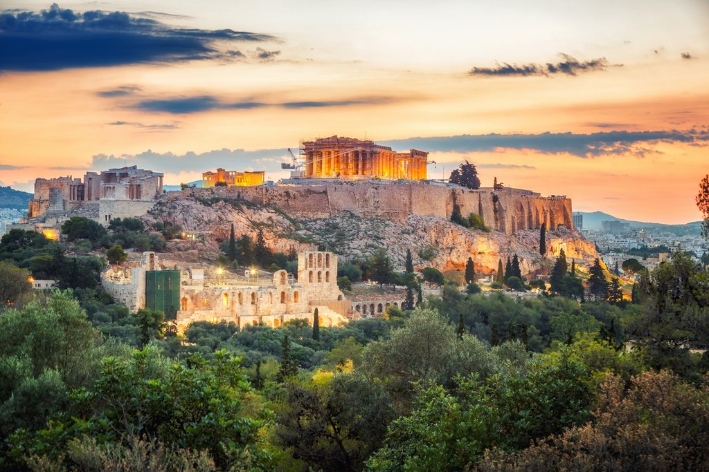 Views of Acropolis Hill in Athens