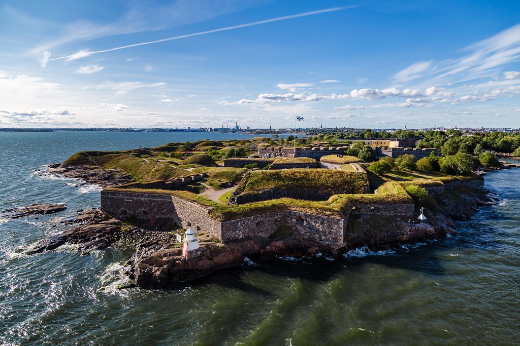 Panoramic view of Suomenlinna Fortress