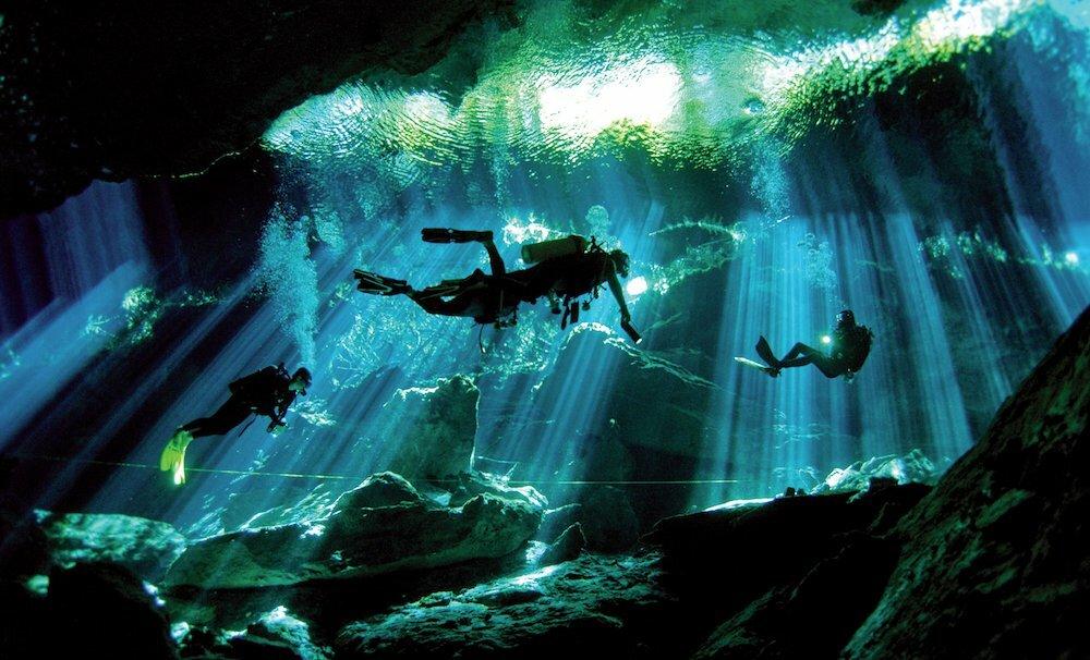 Scuba diving in the Yucatan