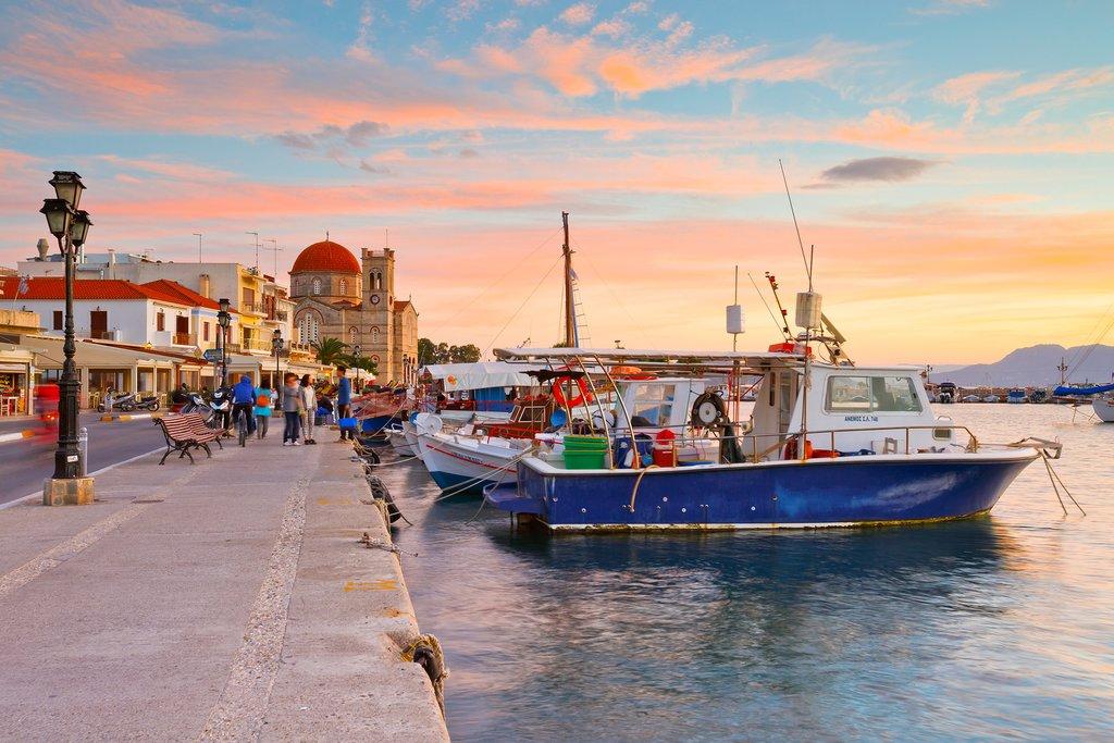 Aegina seafront