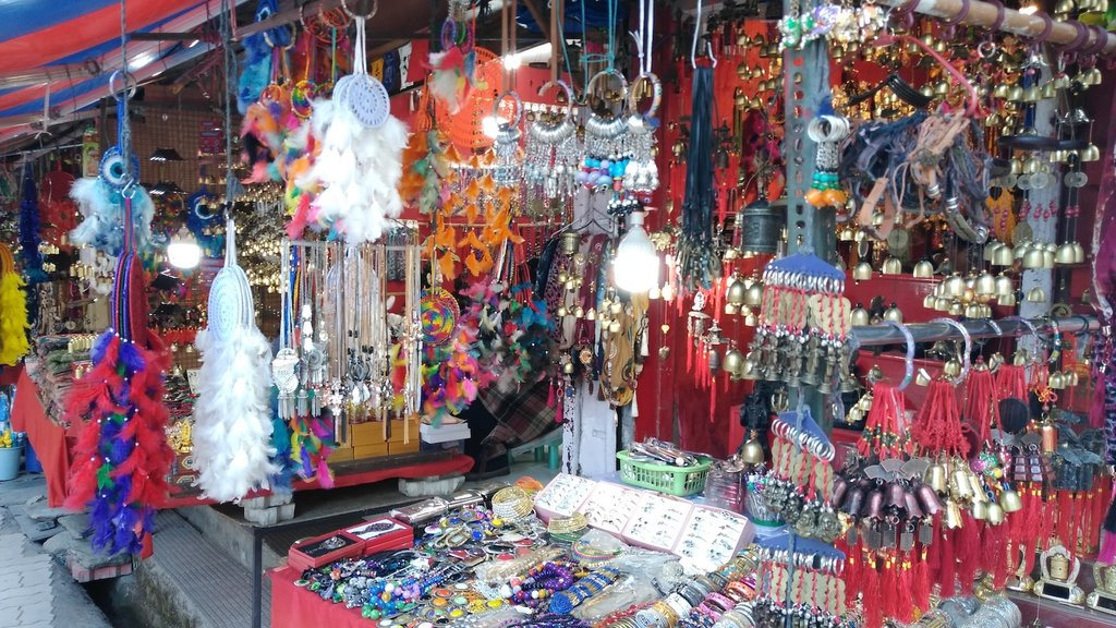 Souvenirs at a market in McLeod Ganj
