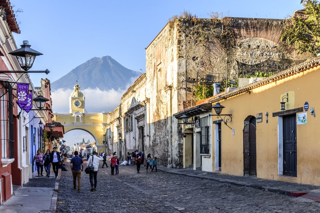 Depart Antigua and the Guatemalan highlands.