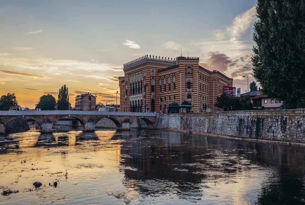 Bosnia Herzegovina - Sarajevo - Vijećnica (City Hall)