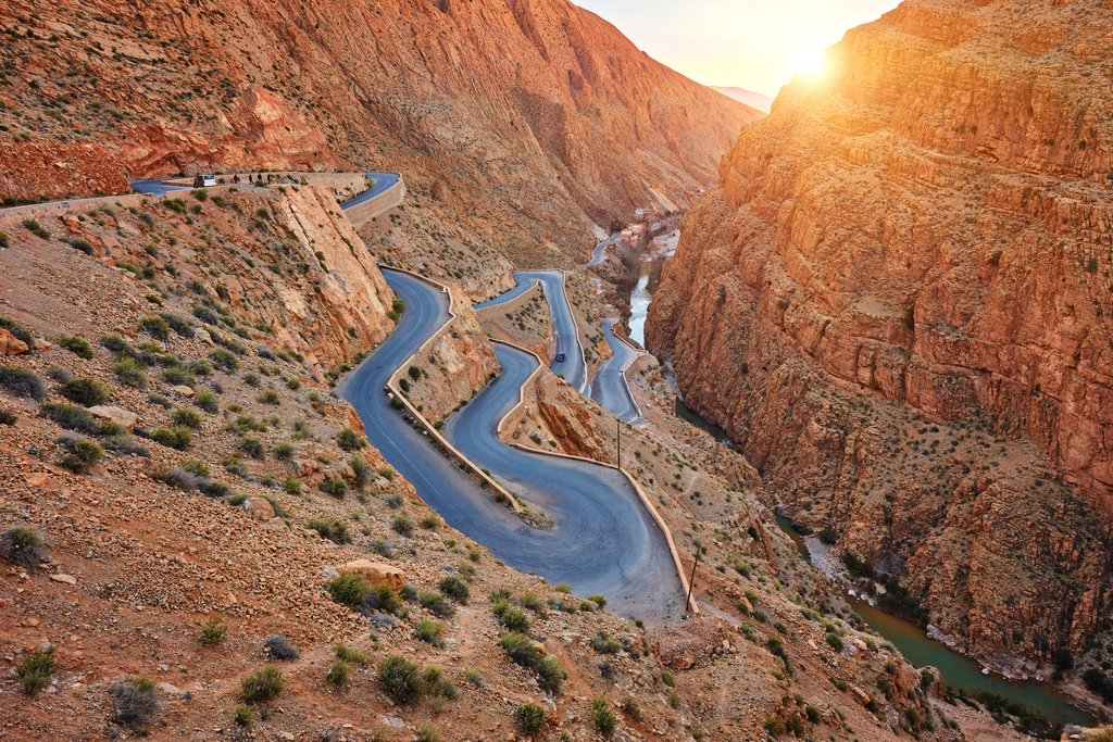 Dades River Gorge in the Atlas Mountains