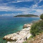 Adriatic scene from Goli otok's shore