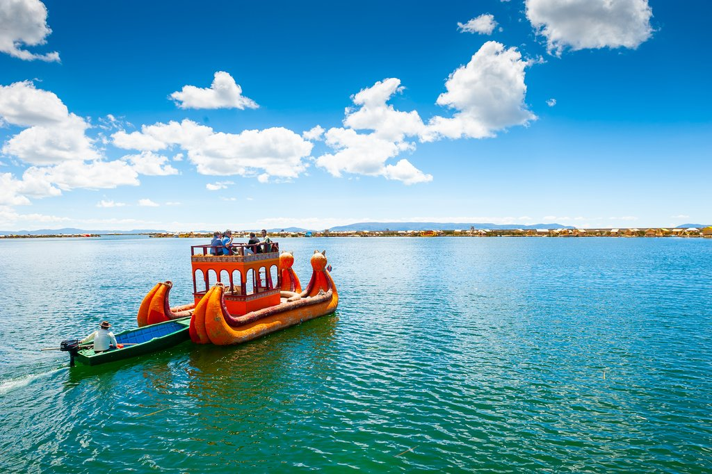 Boating on Lake Titicaca